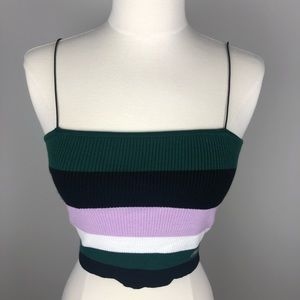 KENDALL & KYLIE PacSun Horizontal Striped Crop Top